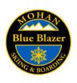 Mohan Blue Blazer Personal Achievement Award Pin.  Links Christie II turns (bringing skis parallel at or before fall line).  Demonstrates consistent speed and smooth direction changes.