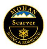 Mohan Scarver Personal Achievement Award Pin. Links series of short radius turns, carving at or before the fall line on groomed blue slopes.